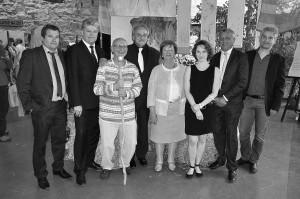 Déléguation ville d'Armentière et de Litomérice, le maire et ses adjoints